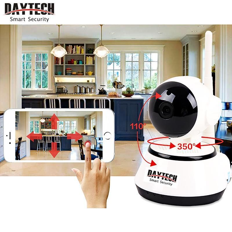 Daytech Home Security IP <font><b>Camera</b></font> Wireless WiFi <font><b>Camera</b></font> Surveillance 1080P/720P Night Vision CCTV Baby Monitor DT-C8815