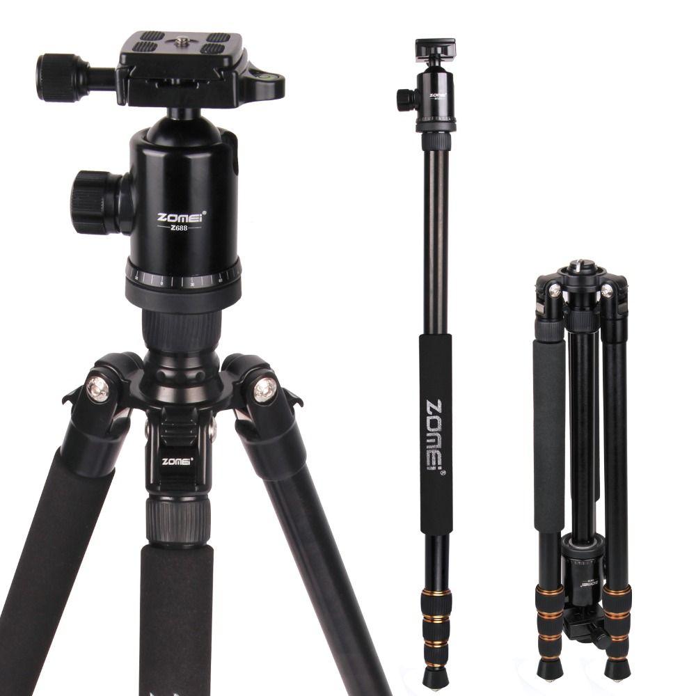 Zomei Z688 Professional Photographic Travel Compact Aluminum Heavy Duty Tripod Monopod&Ball Head for Digital DSLR Camera