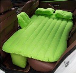 Voiture gonflable lit de voiture rangée arrière voyage lit de voiture dans le siège arrière suv de couchage pad split PVC flocage voiture choc lits