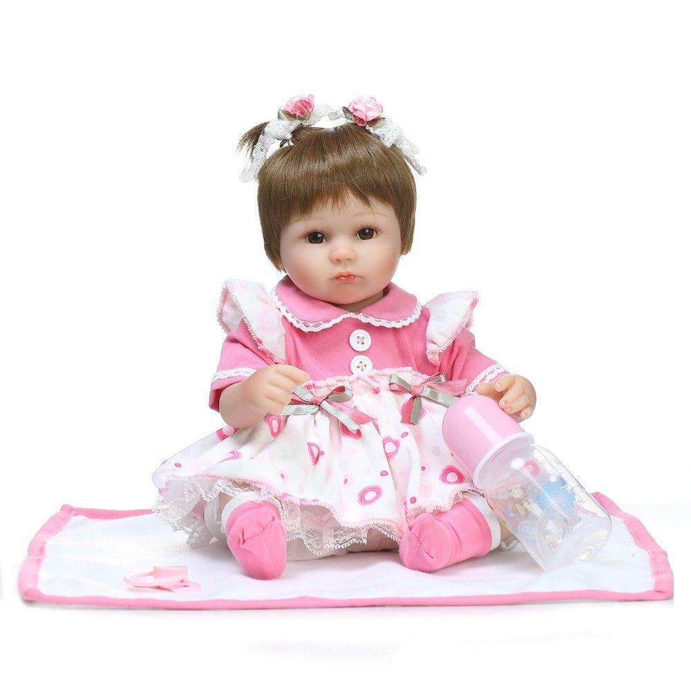 NPK 18inch Reborn Dolls Kid's Toys Cute Princess DIY Dolls Girl Brinquedos Gifts Baby Accompany Toys Enlightenment boneca Doll