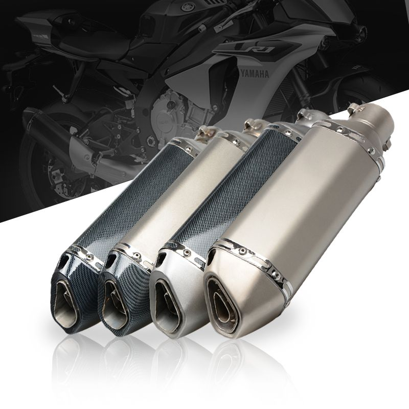 51mm Motorcycle Akrapovic Exhaust Pipe With DB killer Escape Moto CBR125 CB400 YZF R1 R6 R15 GXSR Z750