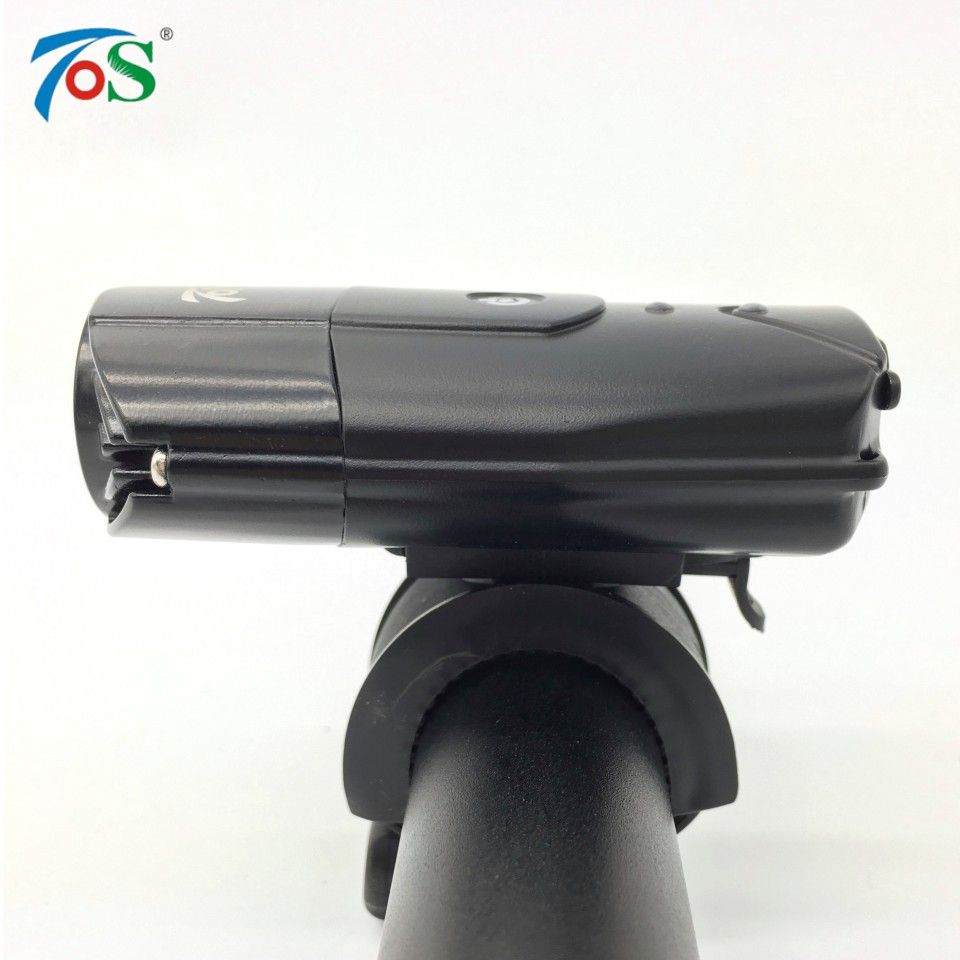 TOS New USB Rechargeable Bike Front Light Bicycle Accessories Flashlight Bicycle Lamp For Cycling LED Bike Headlight Waterproof