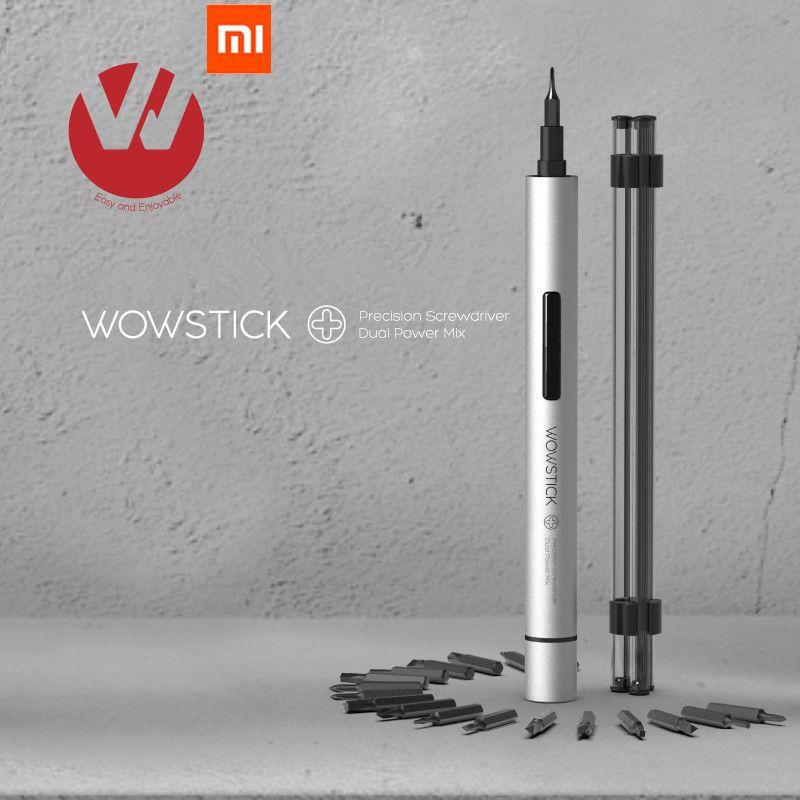 Produit d'origine XIAO mi mi jia Wowstick essayer 1 P + 19 en 1 tournevis électrique sans fil avec kit de maison intelligente mi home