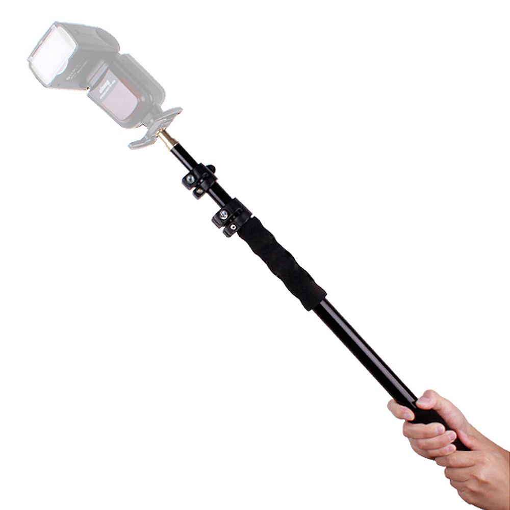 Aluminum Alloy Handheld Hand Held Grip Rig Support Rod <font><b>Flash</b></font> Light Speedlite Microphone Holder