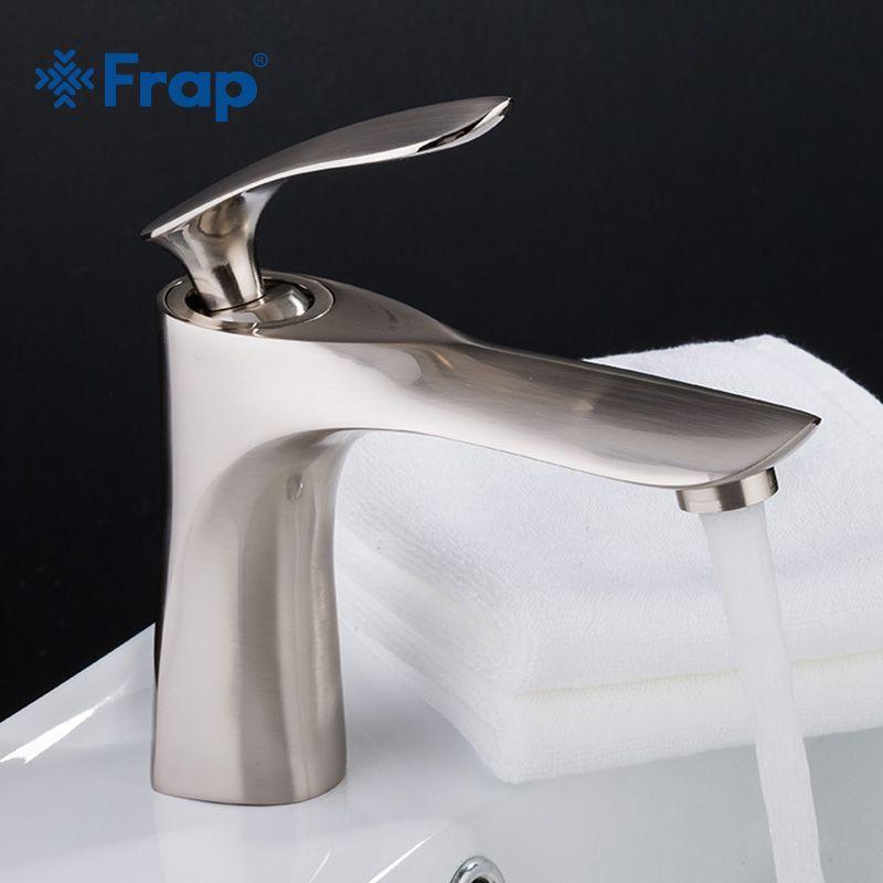 FRAP Becken Armaturen Moderne Mode Bad Mischbatterie Gebürstet Waschbecken Wasserhahn Einzigen Griff Einzigen Loch Elegante Kran TapsY10056