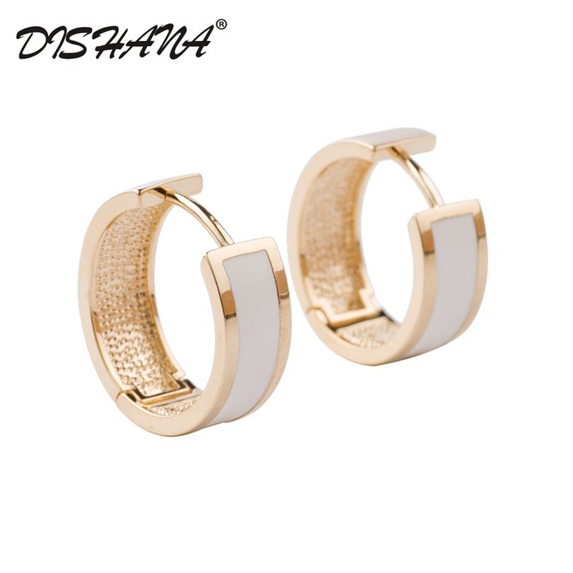 New 2016 Simple Jewelry Small Circle Gold Hoop Earrings for Women Party Bijoux Gift Brincos Accessory(E0614)