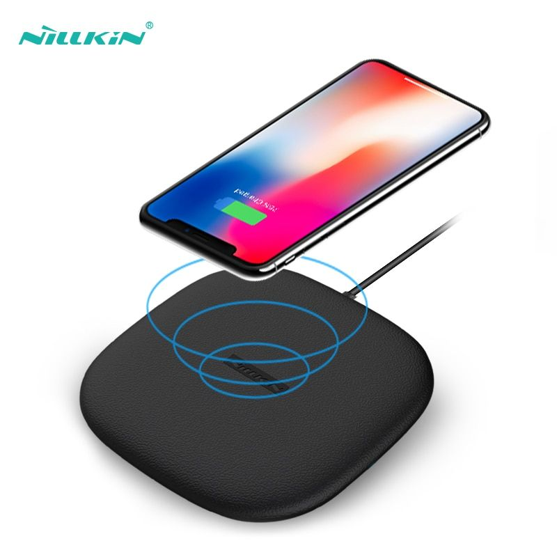 10W Fast Wireless Charger,Nillkin Qi Fast Wireless Charging Pad Thin Silicon for iPhone X/8/8 Plus For Samsung S9/Note 8/S8/S8+