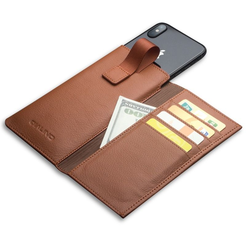 QIALINO Leather Wallet Case for iPhone X Wallet Pouch Fundas Bag Cover for iPhone X with Card Slot Luxury Accessories 5.8 inch