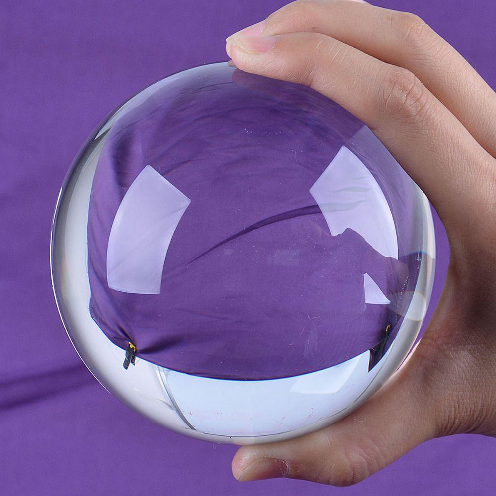 Navire des états-unis LS boule de cristal de Quartz clair 100mm sphère orbe Photo accessoires Stand gratuit boîte Pack livraison gratuite