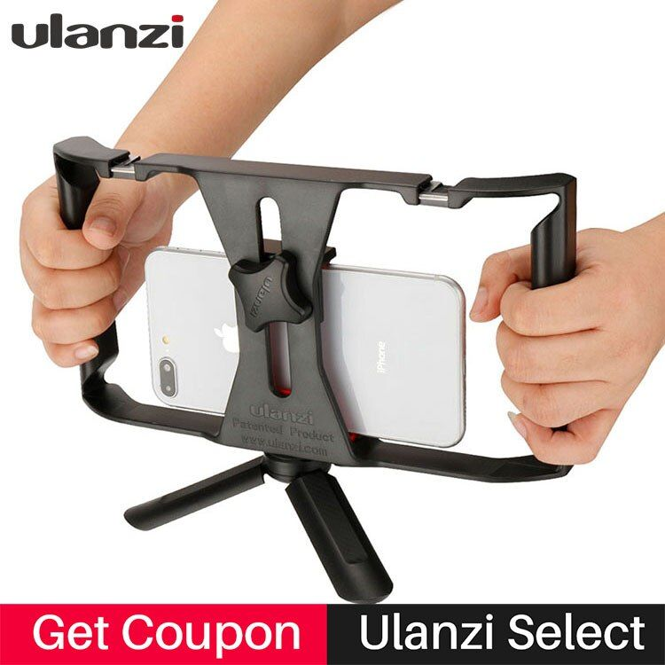 Ulanzi Handheld Smartphone Video Rig Case for iPhone X <font><b>Samsung</b></font>,Phone Rig Stabilizer for Live stream Youtube Filmmaking Vlogger
