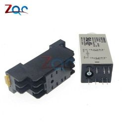 1-30 Minute H3Y-2 de Base Power On Time Delay Solid-State Minuterie Relais DPDT DC 12 V 24 V module