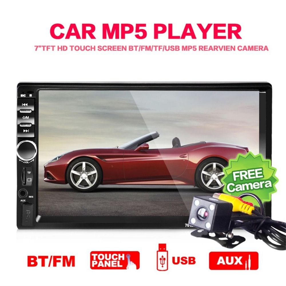 CASKA 7018B 7 Inch 2 Din Car Multimedia Player Audio Stereo MP5 Player Bluetooth Audio Car Radio FM Bluetooth USB Player