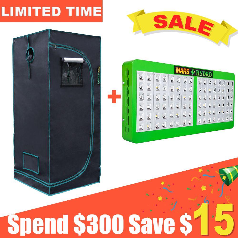 Mars Reflector 480W LED Grow Light Hydro Plant+70x70x160cm Indoor Grow Tent Box