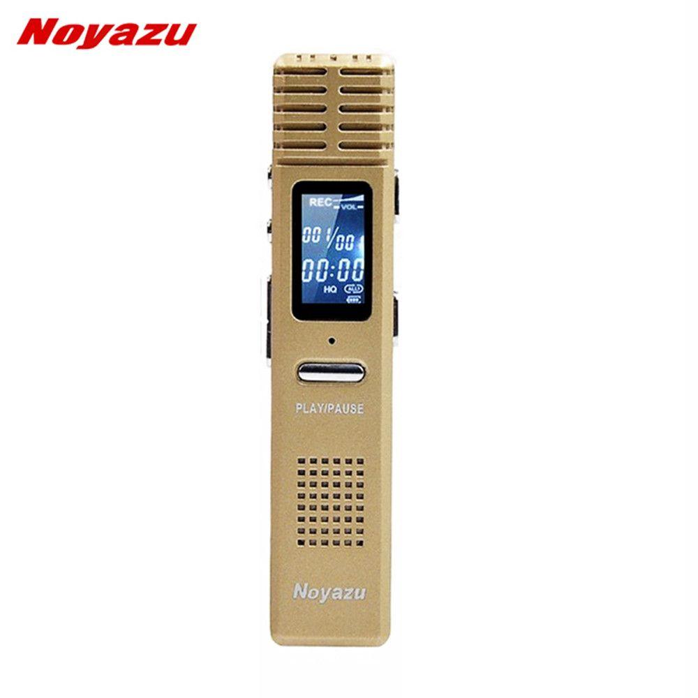 NOYAZU X1 8 GB enregistreur vocal numérique professionnel Dictaphone activé par la voix 550 heures enregistrement de longue durée Mp3 cadeaux d'affaires or