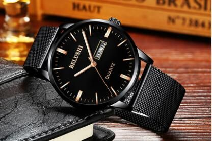 Watches Men's and women's couple watches a pair of students Korean fashion simple quartz watch trend