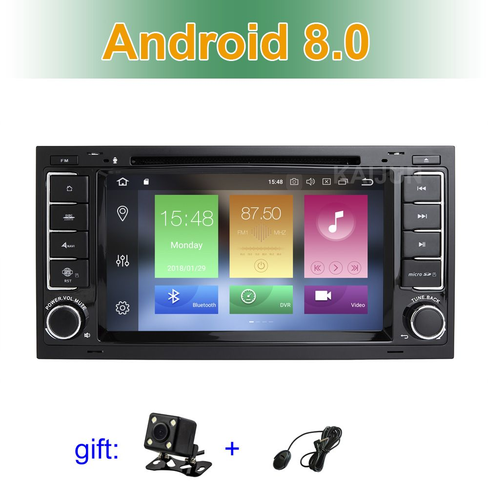 IPS screen Android 8.0 Car DVD Multimedia Stereo GPS for VW T5 Transporter Multivan Touareg with Radio WiFi BT
