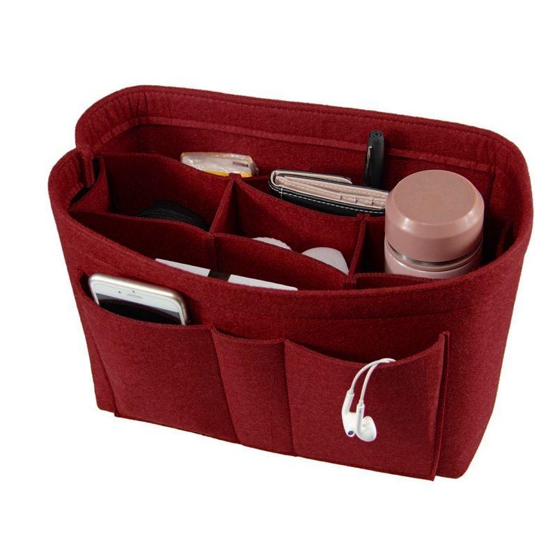 Feutre sac de maquillage organisateur insérer sac à main organisateur insérer multi-fonctionnel voyage sac cosmétique fille toilette sacs de rangement