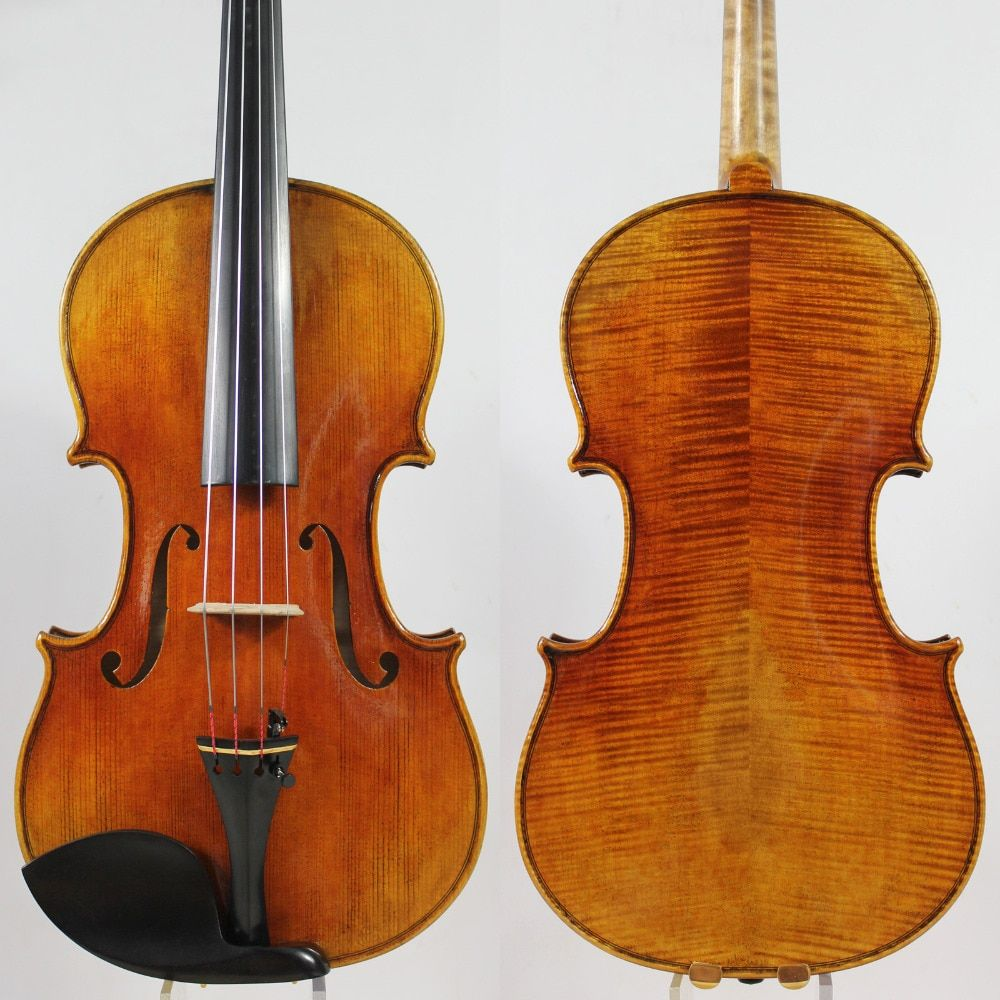 Top Oil Varnish! Copy Antonio Stradivari 15-16.5 Viola All European Wood M7043 Powerful tone! EMS Free Shipping!