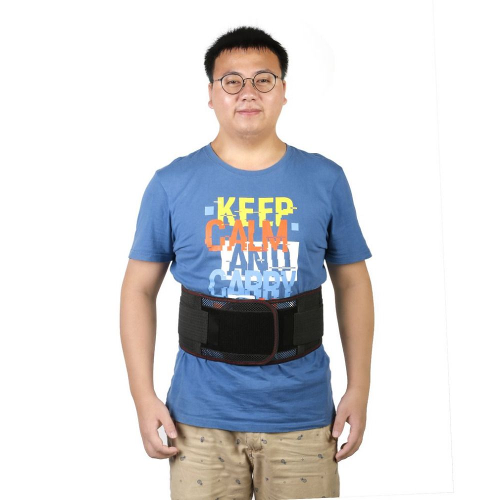 1Pcs Tourmaline Adjustable Self-heating Lower Pain Relief Magnetic Therapy Waist Support Belt Brace Lumbar Health Care Black New