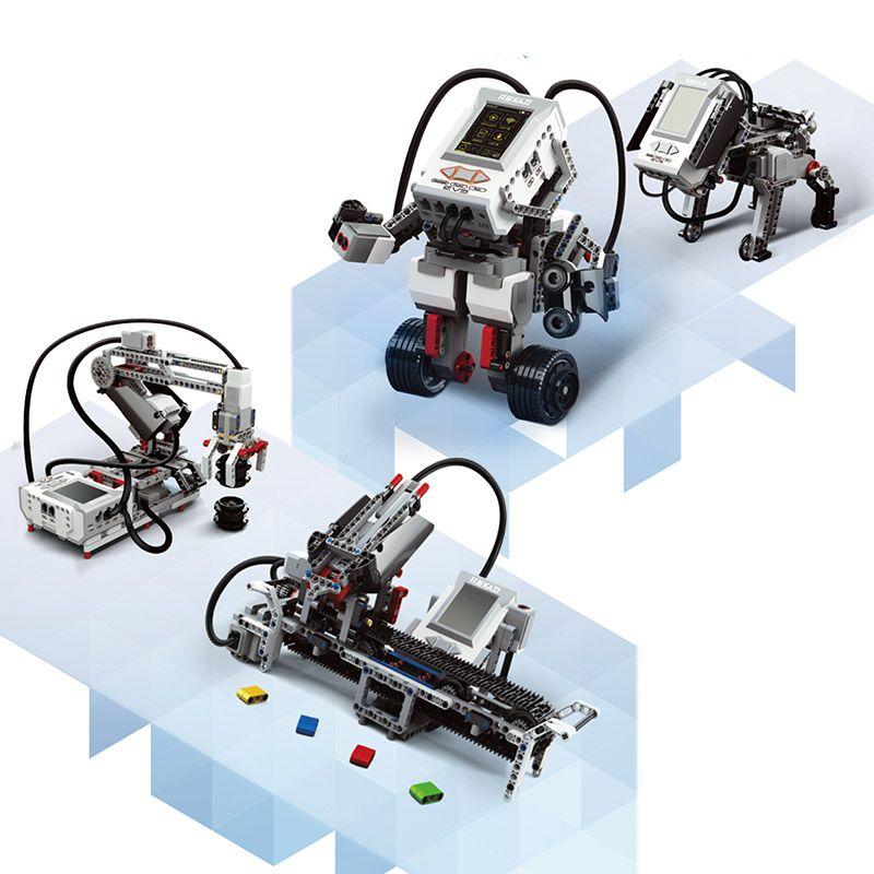 DAMPF 822 stücke Programmierung Bildung bausteine technologische zubehör set kompatibel mit 45544 EV3 Core Set 95646