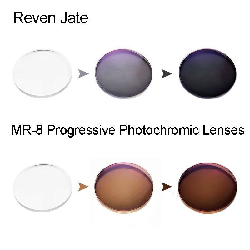 MR-8 Photochromic Digital Free Form Progressive Prescription Optical Lenses With Fast Color Changing Performance