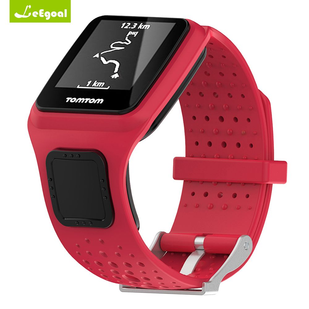 Leegoal for TomTom Multi-Sport GPS Watch for TomTom Runner 1 Wrist Sports Fitness Bracelet Band Strap Soft Silicone Replacement