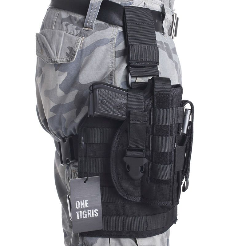 OneTigris Tactical Gun Holster Molle Modular Pistol Holster with Magazine Pouch for Right Handed Shooters 1911 45 92 96 Glock