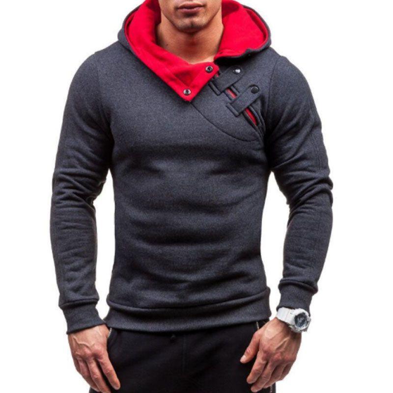 Brand 2017 Hoodie Soild Warmth New Stitching Hoodies Men Fashion Tracksuit Male Sweatshirt  Hoody Mens Purpose Tour