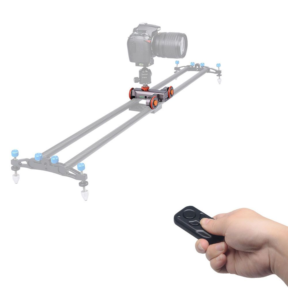 Mcoplus Wireless Remote camera Motorized Dolly Car DSLR Electric Track Slider Video Pulley Rolling Skater