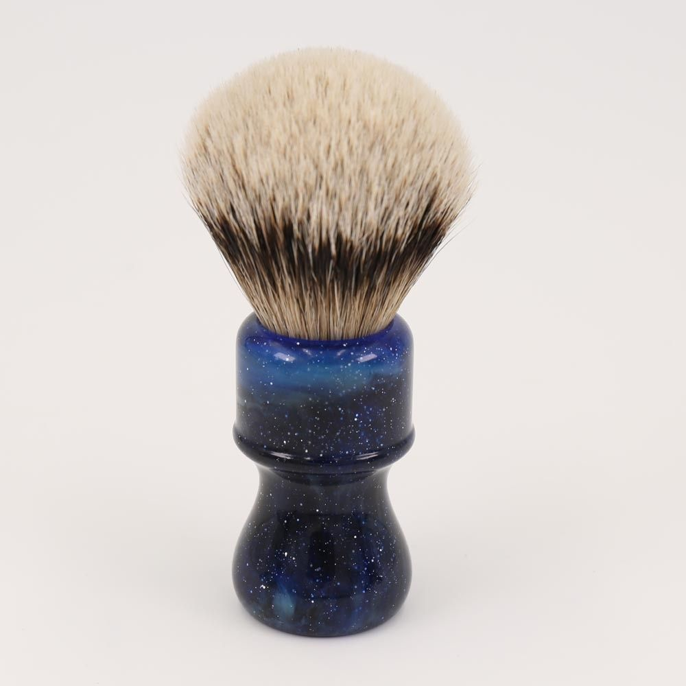 24MM Yaqi Mysterious Space Color Handle Silvertip Badger Hair Knot Men <font><b>Shaving</b></font> Brushes