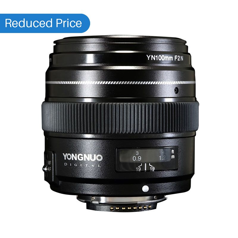 Ulanzi Yongnuo 100MM F2 Lens Large Aperture AF/MF Medium Telephoto Prime Lente YN100mm For Nikon D7200 D7100 D7000 D5600