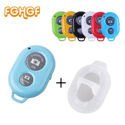 FGHGF Bluetooth Phone Self Timer Shutter Button for iPhone 7 selfie stick Shutter Release Wireless Remote Control for Huawei