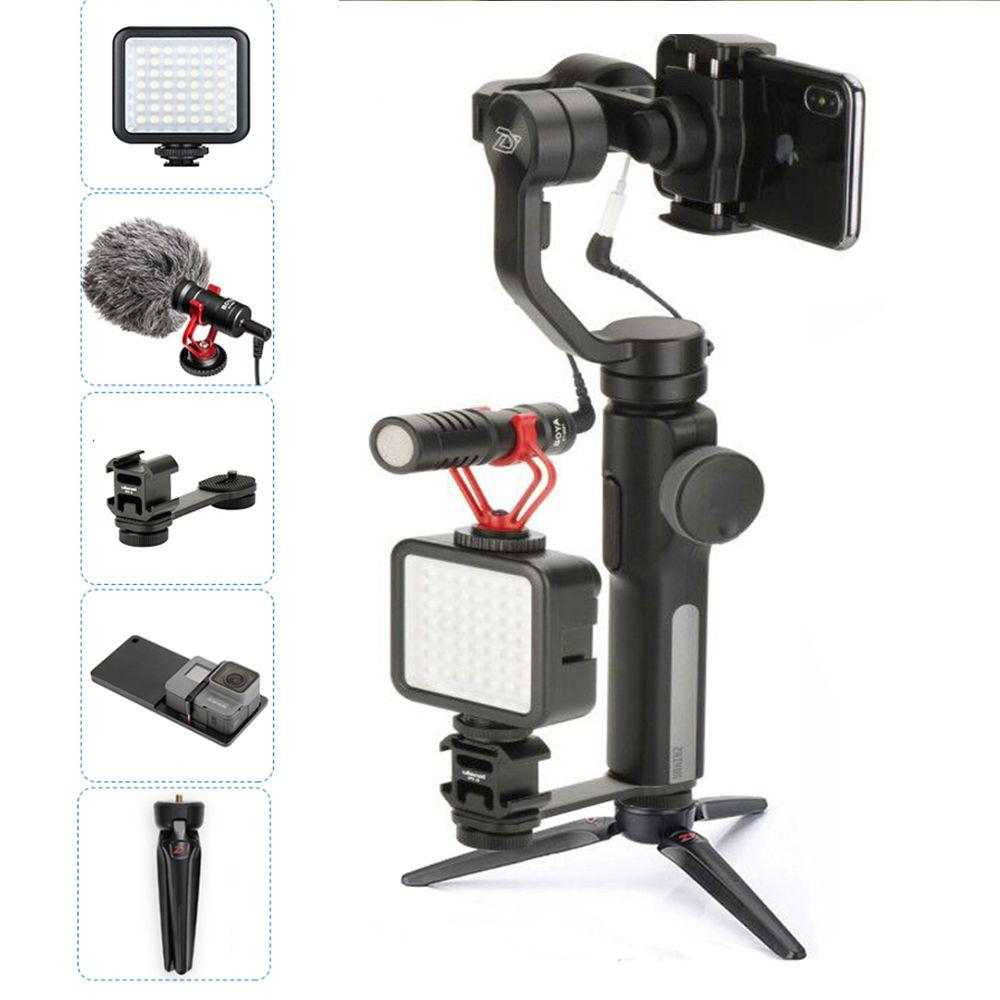 Zhiyun Smooth 4 Cardan Stabilisateur Vidéo Portable Steadicam Contrôle D'APPLI De Bluetooth pour l'iphone XS X Gopro 6 Vlog Cinéastes