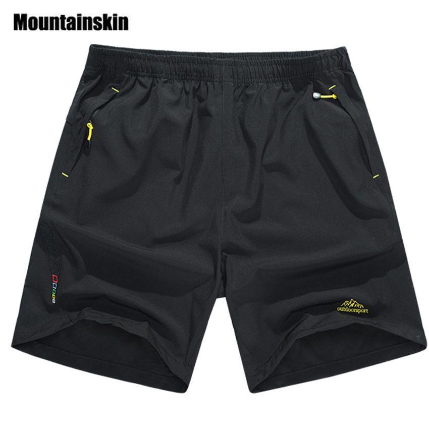 Mountainskin verano hombres de secado rápido Pantalones cortos 8xl 2017 hombres ocasionales playa Pantalones cortos pantalón respirable masculino Pantalones cortos marca ropa sa198