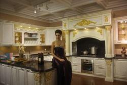 Высокая Роскошный Дизайн кухонный шкаф для Вилла Дом k030