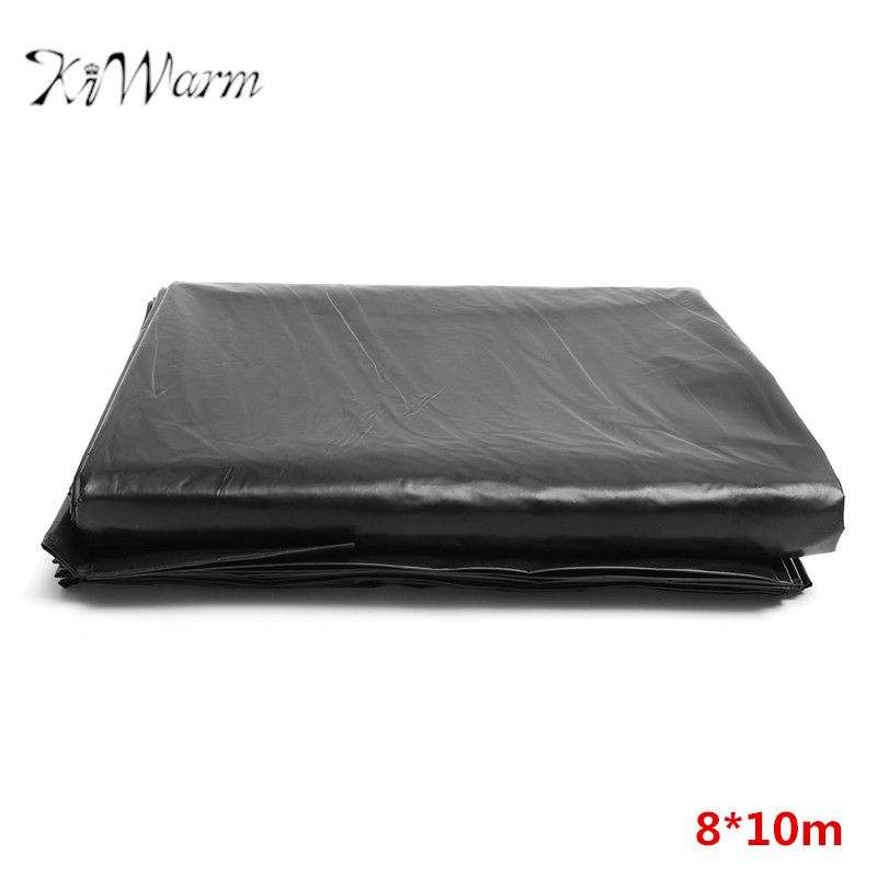 KiWarm 8*10m Durable Large Fish Pond Liner Garden Pools Reinforced HDPE Heavy Duty Landscaping Pool Pond Waterproof Liner Cloth