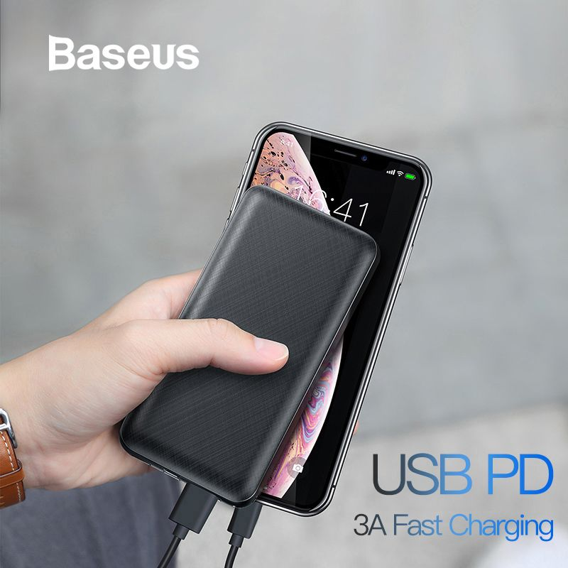 Baseus 20000mAh Power Bank For iPhone Samsung Huawei Xiaomi External Battery 3A Type C PD Fast Charing USB Charger Powerbank