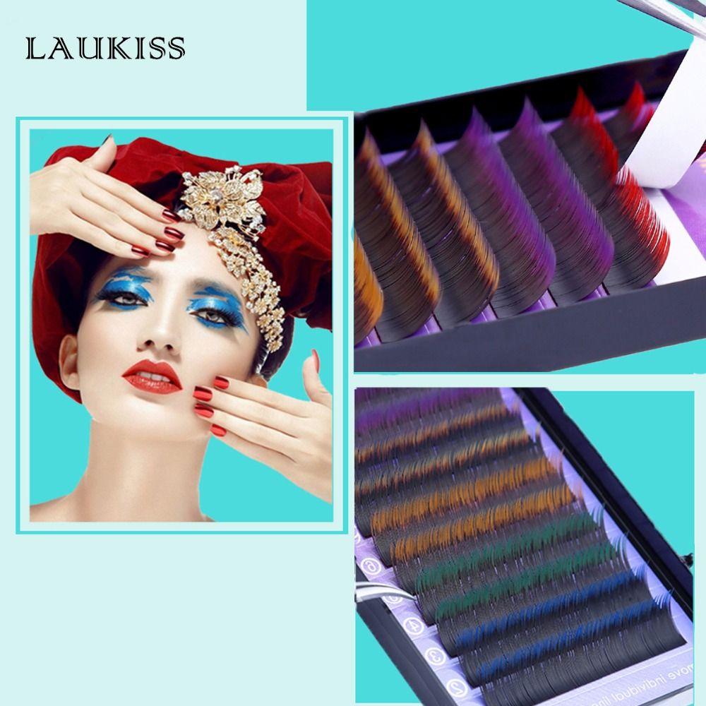 Colored Eyelash Growth Individual Rainbow Eyelashes Extension Cilia For Building Eyelashes Natural False Color Makeup Fake lash