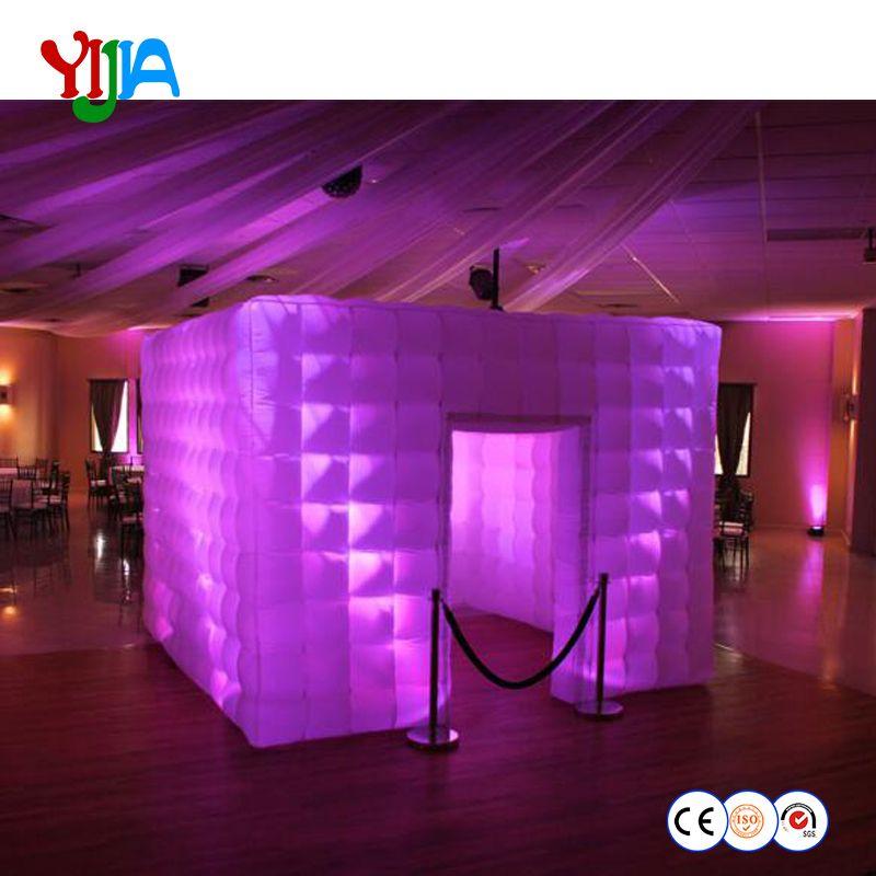 Kostenloser versand beleuchtung oxford tuch tragbare aufblasbare photo booth kiosk