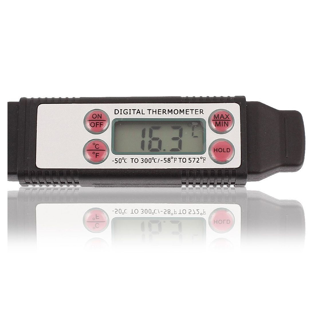 NFLC-12CM Probe Quick-Read Digital Cooking BBQ Meat Food Thermometer Black