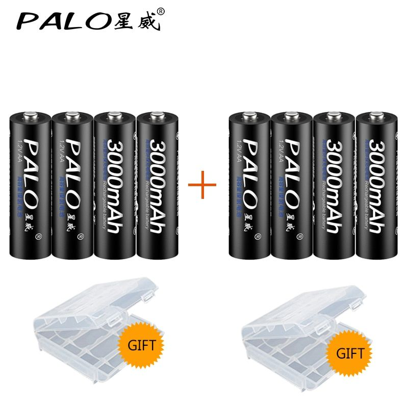 PALO 8Pcs AA Bateria Rechargeable Battery AA <font><b>NiMH</b></font> 1.2V 3000mAh rechargeable batteries for Remote Control Toy camera
