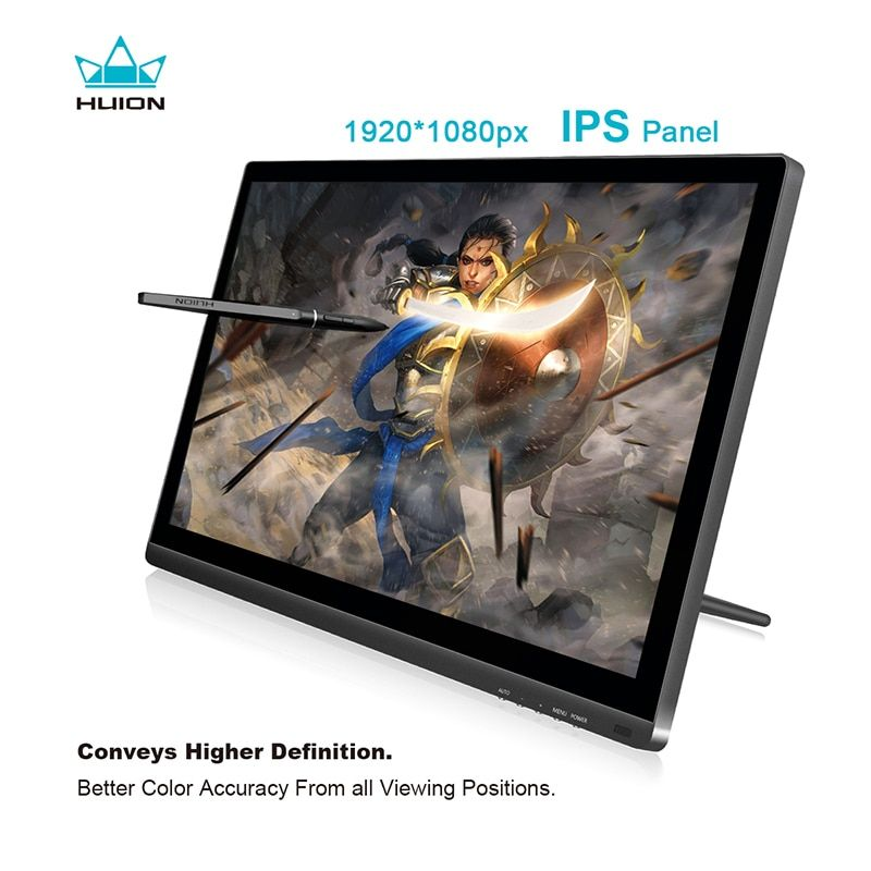 HUION KAMVAS GT-191 19.5-inch IPS Pen Display 8192 Levels Interactive Digital Graphic Drawing Monitor with Gifts