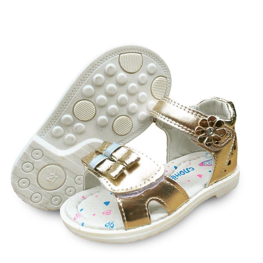 На продажу 1 пара Дети Кожаные Сандалии Девушка Shoes, Супер качество Дети Открытый Orthopedic Shoes