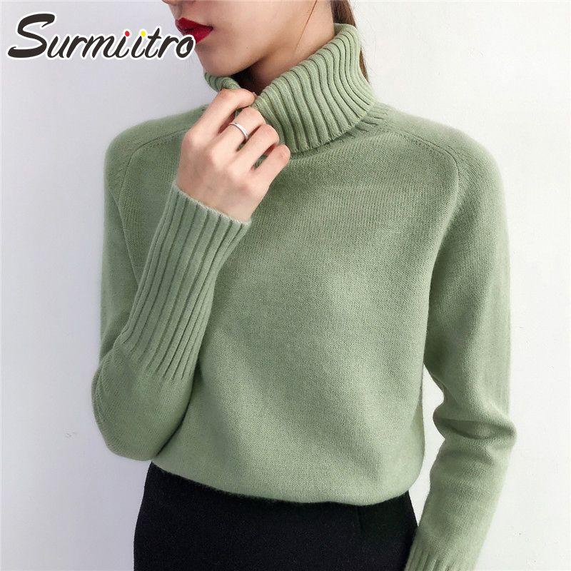 Surmiitro Pull Femme 2019 automne hiver cachemire tricoté femmes Pull et Pull Femme Tricot Jersey Pull Femme