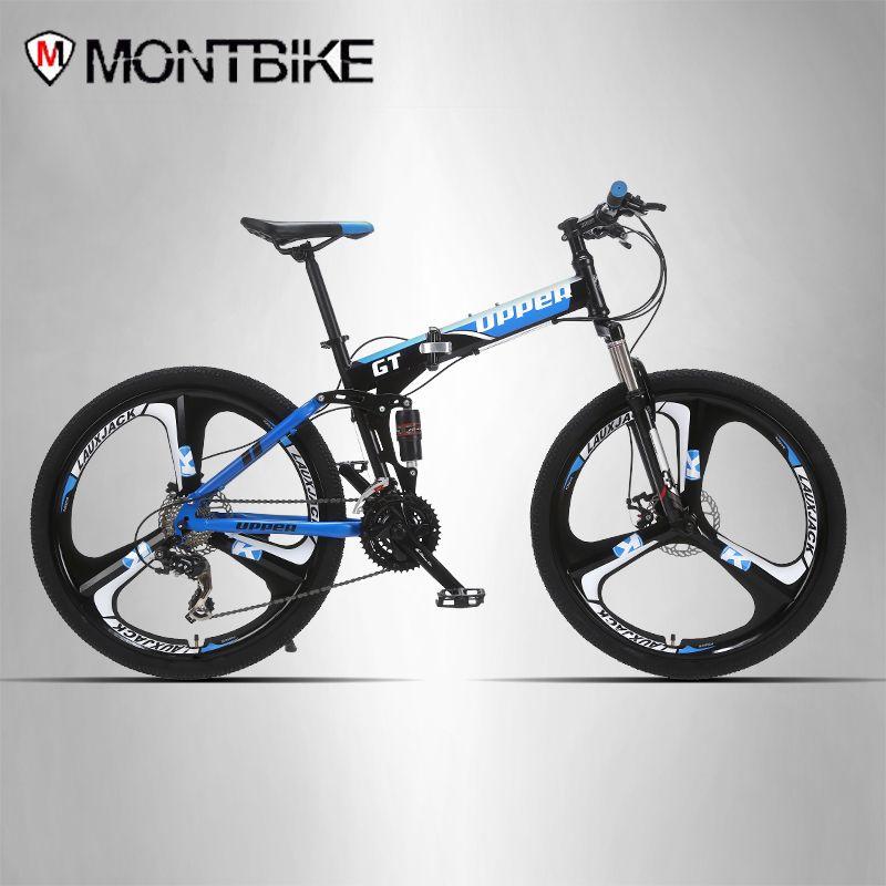OBEREN mountainbike zwei-suspension system stahl klapprahmen 24 gang Shimano mechanische bremsscheiben alufelgen