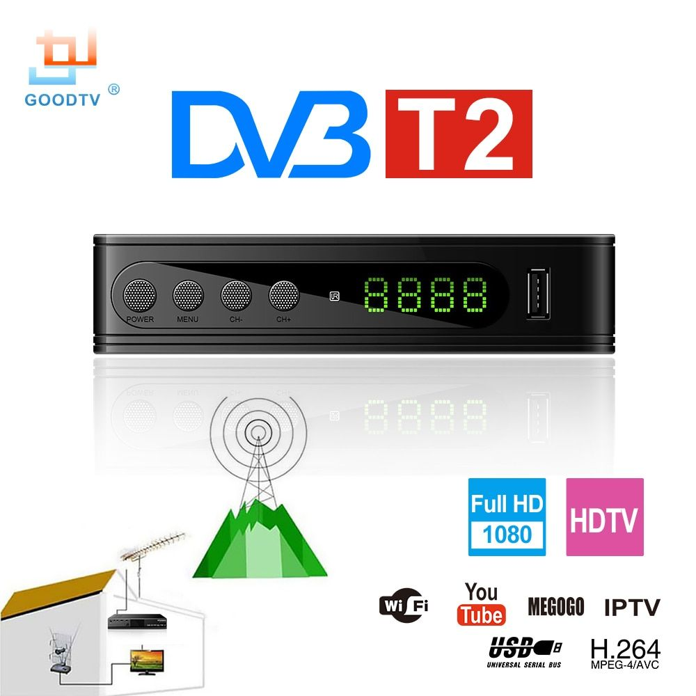 U2C DVB-T Smart TV Box <font><b>HDMI</b></font> DVB-T2 T2 STB H.264 HD TV Digital Terrestrial Receiver DVB T/T2 Set-top Boxes Free Tv Russia