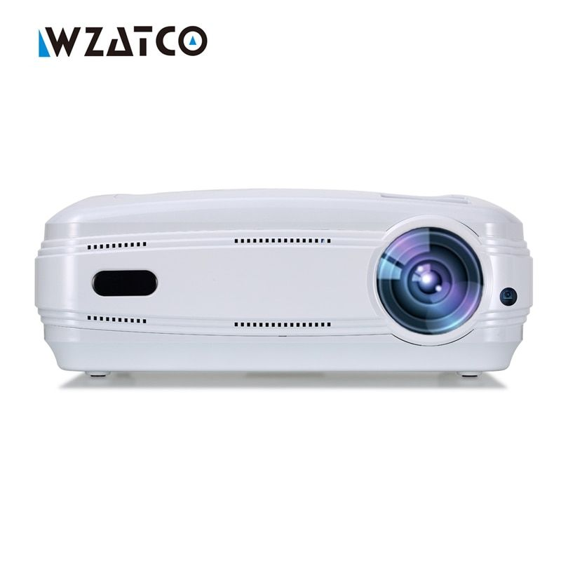 WZATCO Android 6.0 WIFI 5500 lumen Tragbare HD heimkino FÜHRTE TV projektor 1080 P video spiel HDMI LCD full hd projektor beamer