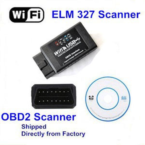 20pcs/lot High Quality ELM327 WiFi / USB Interface OBD II Car Diagnostic Scanner Tool By DHL Free Shipping