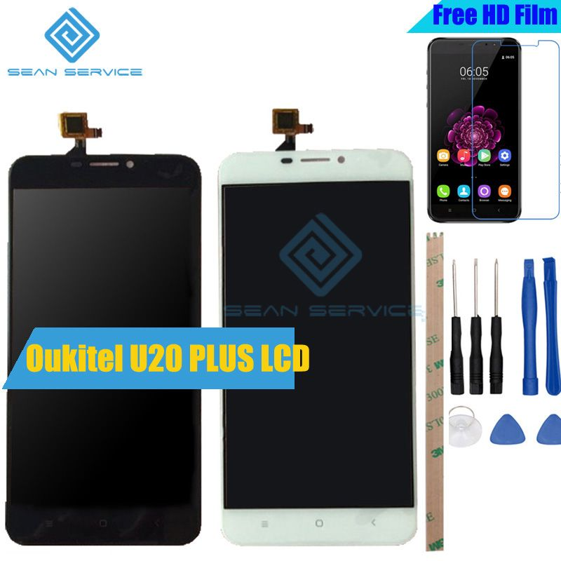 For Oukitel U20 PLUS Original LCD Display +TP Touch Screen Digitizer <font><b>Assembly</b></font> 5.5 U20 Plus Tested Digitizer Panel Replacement