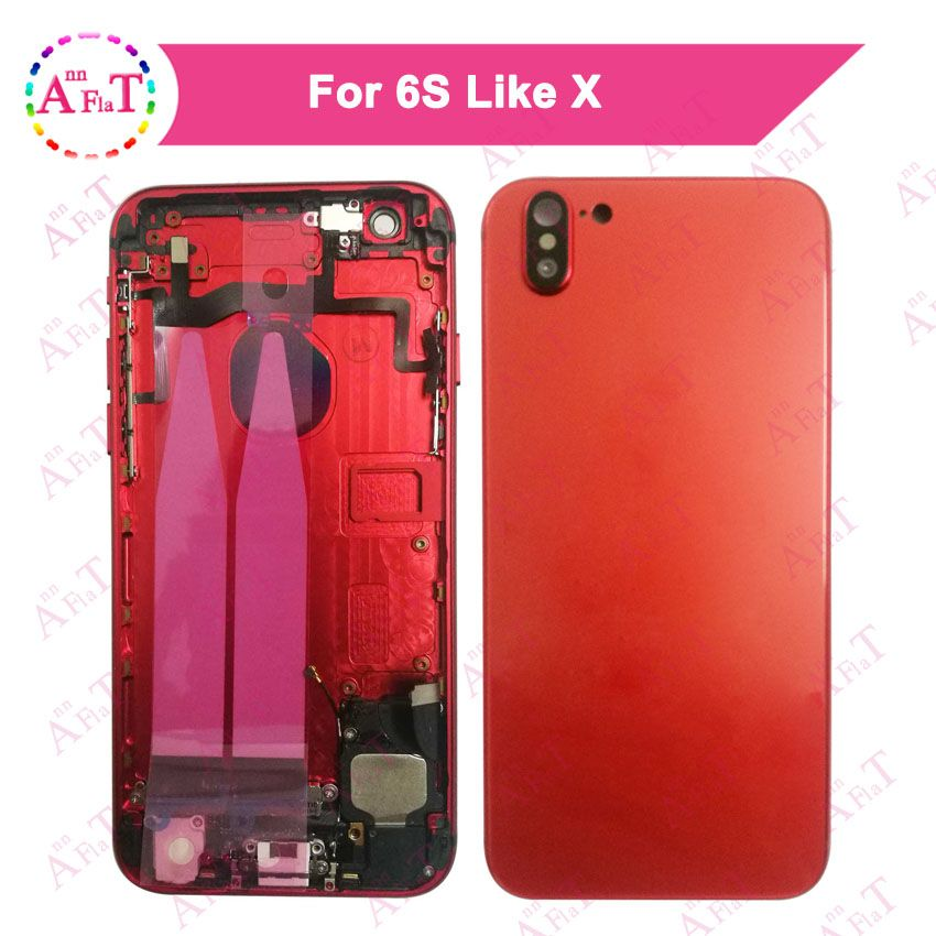 Back Middle Frame Chassis Full 6SPlus style X Plus Housing Assembly Battery Cover Door Rear with Flex Cable For IPhone 6S Like X